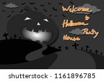 halloween house party  pumpkin... | Shutterstock .eps vector #1161896785