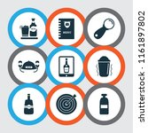 beverages icons set with bottle ... | Shutterstock .eps vector #1161897802