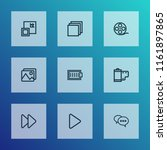 media icons line style set with ... | Shutterstock .eps vector #1161897865