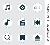 media icons set with previous ... | Shutterstock .eps vector #1161898492