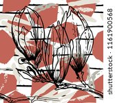 tropical  stripe  animal motif. ... | Shutterstock .eps vector #1161900568