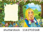 cartoon scene with princess in... | Shutterstock . vector #1161910168