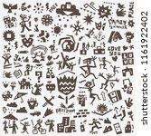 summer doodle set | Shutterstock .eps vector #1161922402