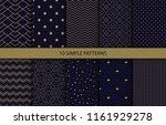 set of 12 simple oriental... | Shutterstock . vector #1161929278