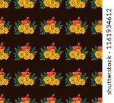 seamless vector ornamental... | Shutterstock .eps vector #1161934612