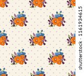 seamless vector ornamental... | Shutterstock .eps vector #1161934615
