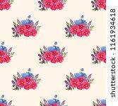 seamless vector ornamental... | Shutterstock .eps vector #1161934618