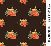 seamless vector ornamental... | Shutterstock .eps vector #1161934672