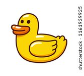 funny yellow rubber ducky in... | Shutterstock .eps vector #1161939925
