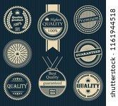 premium quality labels set.... | Shutterstock . vector #1161944518