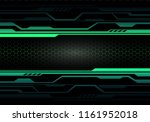 Abstract Green Light Circuit O...