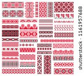 big set of traditional... | Shutterstock .eps vector #1161957688