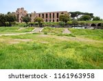 ancient ruins in rome  italy    ... | Shutterstock . vector #1161963958