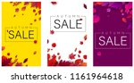 autumn sale cards with... | Shutterstock .eps vector #1161964618