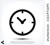 time vector icon  stock vector... | Shutterstock .eps vector #1161971695