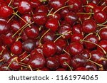 close up of cherries on market | Shutterstock . vector #1161974065