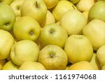 close up of green apples on... | Shutterstock . vector #1161974068