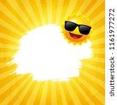 yellow sunburst background with ...   Shutterstock . vector #1161977272
