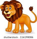 Stock photo lion cartoon 116198086