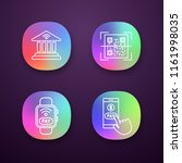 e payment app icons set. online ...