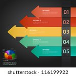 colorful infographics number... | Shutterstock .eps vector #116199922