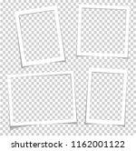photo frames with realistic... | Shutterstock . vector #1162001122