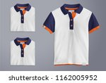 polo t shirt mockup  folded and ... | Shutterstock . vector #1162005952