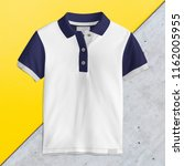 polo t shirt mockup  front view ... | Shutterstock . vector #1162005955