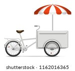 food cart on white background... | Shutterstock .eps vector #1162016365
