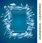 broken glass frame. decorative... | Shutterstock .eps vector #1162024342