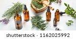 bottles of essential oils....   Shutterstock . vector #1162025992
