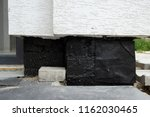 new concrete house foundation... | Shutterstock . vector #1162030465