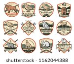 hunter club or hunting society... | Shutterstock .eps vector #1162044388