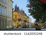 City landscape in the old town of Kaposvar, Hungary