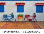 alanya  turkey  old bikes part... | Shutterstock . vector #1162058542