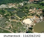 Small photo of aerial view of gold mining area in Amazon forest region, Para state, Brazil