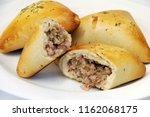 brazilian snack. meat esfiha | Shutterstock . vector #1162068175