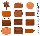 wood signboard wooden panels... | Shutterstock .eps vector #1162068475