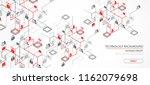 network concept. isometric... | Shutterstock .eps vector #1162079698