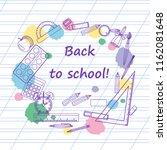 back to school background  for...   Shutterstock .eps vector #1162081648