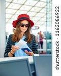 beautiful young business woman... | Shutterstock . vector #1162086922