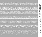 set of horizontal lace borders