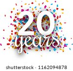 twenty years anniversary with... | Shutterstock .eps vector #1162094878