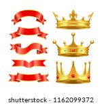 ribbons banners stripes and... | Shutterstock .eps vector #1162099372