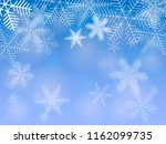snowflakes on blue background.... | Shutterstock .eps vector #1162099735
