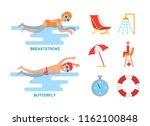 butterfly and breaststroke...   Shutterstock .eps vector #1162100848