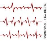 red heartbeat line  ekg  cardio ... | Shutterstock . vector #1162103842