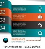 modern design template for... | Shutterstock .eps vector #116210986