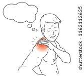 person got sick feeling pain on ... | Shutterstock .eps vector #1162112635