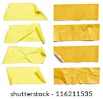 collection of  various adhesive ... | Shutterstock . vector #116211535